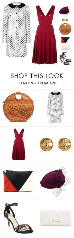 """Dolce & Gabbana Monochrome Polka-Dot Jacquard Jacket"" by sol4nge ❤ liked on Polyvore featuring French Connection, Dolce&Gabbana, Comme des Garçons, Susan Caplan Vintage, Clare V., Betsey Johnson and Vera Bradley"