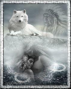 wolf and native Native American Cherokee, Native American Wisdom, Native American Pictures, Native American Artwork, Native American Beauty, Indian Pictures, Wolf Pictures, American Indian Art, Native American History