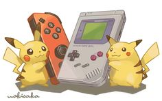 Pichu y Pikachu by wakisaka Pokemon Comics, Pokemon Funny, All Pokemon, Pokemon Fan Art, Pokemon Fusion, Pokemon Games, Pokemon Stuff, Pikachu Pikachu, Nintendo Characters