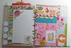 small bits of ephemera on notebook paper.  Art Journaling 101: Visual Journaling Focus | Studio Tangie