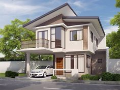 design exterior philippines One Storey House Design Philippines With Floor Plan One Storey House Design Philippines With Floor Plan Design Exterior philippines 2 storey One Storey House, 2 Storey House Design, Layouts Casa, House Layouts, Br House, House Front, Hill House, Style At Home, Zen House Design