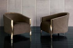 Torsade Armchair in Fabric with Bronze Structure Chair Design, Furniture Design, Luxury Italian Furniture, Unique Sofas, Living Room Sofa Design, Desk And Chair Set, Luxury Dining Room, Luxury Interior Design, Armchairs