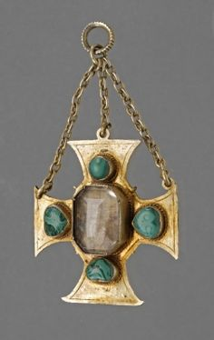 Breast pendant, cross-shaped, Germany, 16th century.