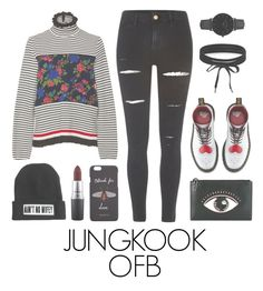 """""""Exhibitions ofсontemporary art with BTS"""" by mazera-kor on Polyvore featuring мода, MSGM, River Island, Dr. Martens, Boohoo, CLUSE, Gucci, MAC Cosmetics, Kenzo и bts"""
