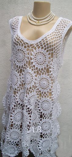 Crochet Bolero, Crochet Diy, Crochet Shawls And Wraps, Crochet Shirt, Crochet Woman, Crochet Cardigan, Irish Crochet, Knit Dress, Crochet Bikini