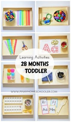 Learning Activities for 28 Months Toddler - Montessori , Learning Activities for 28 Months Toddler Learning activity trays for toddler Montessori & co. Montessori Trays, Montessori Preschool, Montessori Materials, Toddler Preschool, Montessori Bedroom, Toddler Activities For Daycare, Montessori Toddler Rooms, Toddler Classroom, Free Preschool