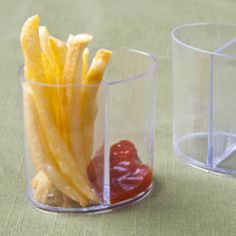 Mini Catering Supplies -Round Disposable Plastic Mini Duo Containers BULK - 200 Containers [EMI-630 Buy Duo Containers BULK] : Wholesale Wedding Supplies, Discount Wedding Favors, Party Favors, and Bulk Event Supplies
