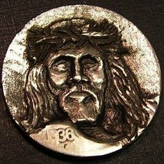 Wells, Ben - Crown of Thorns Hobo Nickel, Crown Of Thorns, Wells, Art Forms, Sculpture Art, Coins, Carving, Buffalo, Euphorbia Milii