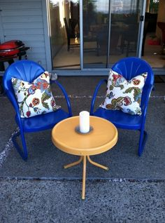 Vintage Patio Chairs After.