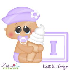 Alphabet Baby ~I~SVG-MTC-PNG plus JPG Cut Out Sheet(s) Our sets also include clipart in these formats: PNG & JPG