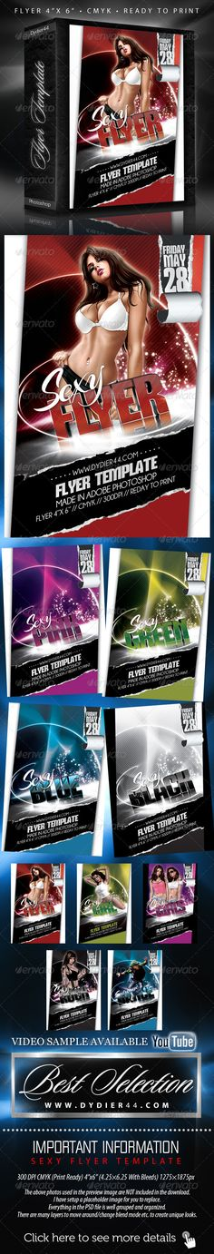 """Sexy Flyer Template (Flyer Template 4""""x 6"""" )"""