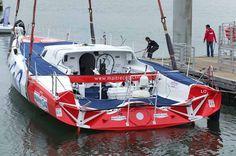 Maitre Coq, en configuration Jacques Vabre, retrouve l'eau à Lorient !