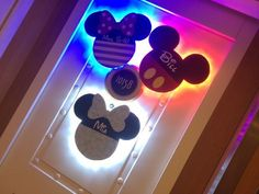 How to create lighted door magnets