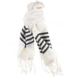 Silk Stripe Scarf & Sarong