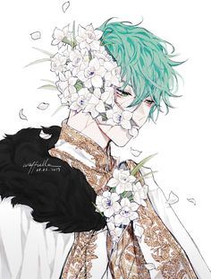 Photo by ( INFP )_T on March can find Fantasy makeup and more on our website. M Anime, Fanarts Anime, Anime Characters, Anime Art, Anime Boy Zeichnung, Art Manga, Dibujos Cute, Handsome Anime Guys, Anime Kunst