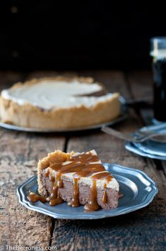 Chocolate Stout and Dulce de Leche Ice Box Pie via @TheBeeroness - adults only!