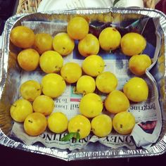 Office giveaway - yellow plums