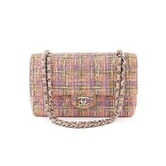 e3bcf7f2633de6 Authentic Chanel Tweed Quilted Medium Classic Double Flap Bag at  THEBROWNPAPERBAG.