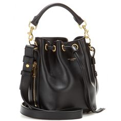 Small Bucket Leather Shoulder Bag ✽ Saint Laurent