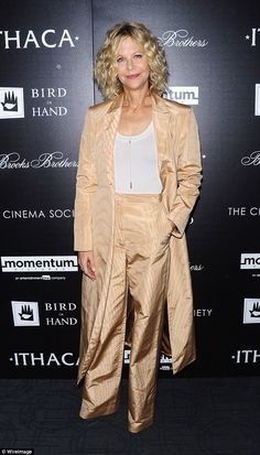 Golden era: 54 yo Meg Ryan has decided to go behind the camera for her directorial debut Ithaca,...
