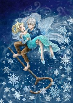 Jack sweeping Elsa off her feet