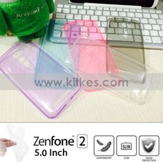 Colour TPU Slim 0.3mm Soft Case ASUS Zenfone 2 (5.0 Inch) - Rp 65.000 - kitkes.com Asus Zenfone, Ice Cube Trays, White Out Tape, White Things, Cover, Slim, Blankets