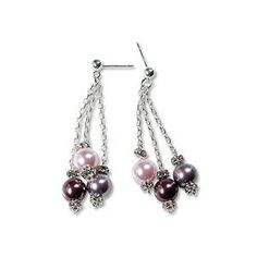 E591 - Three Pearl Earrings - Only at... JewelrySupply.com