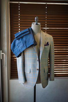 Cotton Pattern Sports Coat & Denim TrousersAll at B&TAILOR