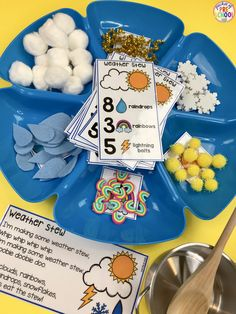 Home - Pocket of Preschool Weather Counting Stew! A fun game for preschool, pre-k, and kindergarten to practice counting, sorting, and identifying numbers! Weather Activities Preschool, Preschool Lessons, Preschool Classroom, Preschool Learning, Kindergarten Activities, Preschool Activities, Preschool Weather Chart, Frogs Preschool, Numbers Kindergarten