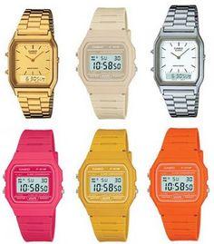 Retro Casio watches