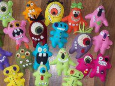 Primitive Halloween Felt Epattern PDF A Hoard of Monsters. $5.00, via Etsy.