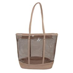 2-in-1 Clear Tote with Mini Solid Cross Body Bag by CTM. $39.95