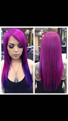 Pure purple hair so amazing #hairdare