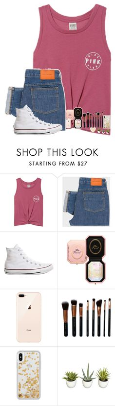 """""""•life updateeeee•"""" by mackenzielacy814 on Polyvore featuring Victoria's Secret, PS Paul Smith, Converse, Too Faced Cosmetics, M.O.T.D Cosmetics and Rebecca Minkoff"""