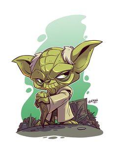 Chibi Yoda by DerekLaufman.deviantart.com on @DeviantArt #starwars: