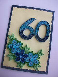 Birthday Anniversary Quilling card, Greeting card, Quilled Birthday card, Handmade Quilling Card de HandmadeTedy en Etsy