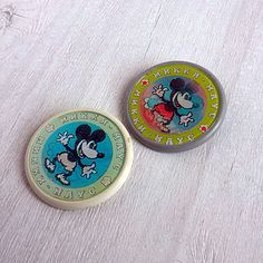 Vintage mirror brooch Mickey Mouse Retro pin Cartoon character