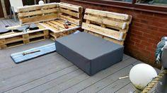 DIY Pallet Upholstered Sectional Sofa : Tutorial