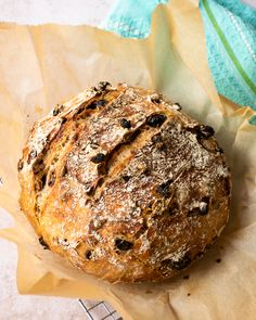 This recipe for delicious no knead fruit and nut bread uses the famous technique (or lack thereof) of Jim Lahey where there's no kneading required. Blue Jean Chef, No Knead Bread, No Rise Bread, Yeast Bread, Jim Lahey, Delicious Fruit, Tasty, Rise Time, Bread Rolls