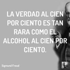 La verdad al cien por ciento es tan rara como el alcohol al cien por ciento.  #terapia #lacan