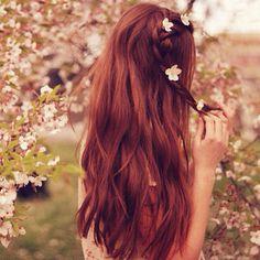 bohemian braid and flowers
