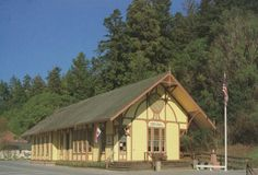 Fortuna Depot Museum, Fortuna, Humboldt County, California-- former train depot was moved to its current location and transformed into a museum