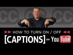 How to Turn on off Closed Captions and Subtitles on YouTube Videos - YouTube Internet Marketing, Social Media Marketing, Google Training, Video Caption, Learning Disabilities, Captions, Web Accessibility, Training Videos, Teaching
