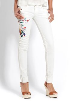 Chloe paint splatter pants