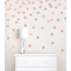 WPD2137 - Rose Gold Confetti Dots - by WallPops