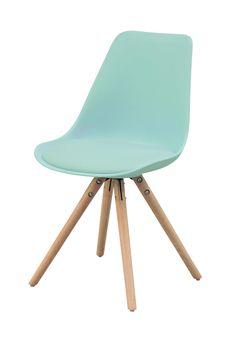 Chaise OSLO vert d'eau, design scandinave - BUT