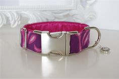 Pink Purple Flames Dog Collar With Pink Color by TwistedPetDesigns, $23.00