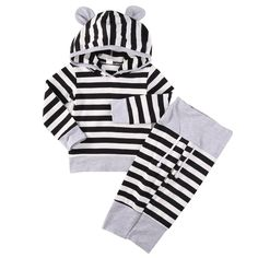 Striped Baby Outfit