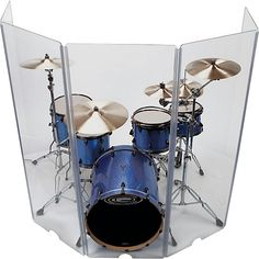 Control Acoustics Acrylic Drum Shield with Removable Front Panel Drum Cage, Chinese Drum, Diy Drums, Drum Room, Drum Lessons, Church Design, Percussion, Clear Acrylic, Super Bowl