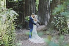 Woodland romance and glitter give this California wedding the perfect amount of glam. Dress by Maggie Sottero. Photos by Alixann Loosle.